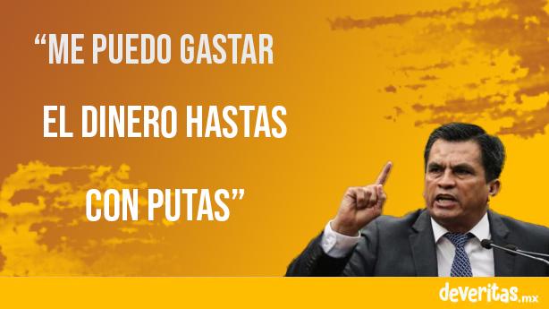 """Misógino y corrupto, """"Me puedo gastar el dinero en putas"""" dice panista Javier Estrada"""