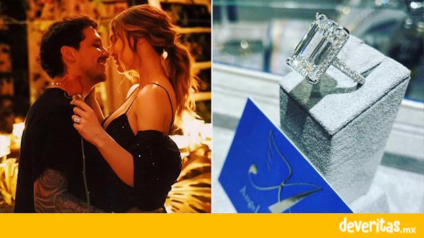 Con una costosa cena y un anillo que vale millones, Nodal le propuso matrimonio a Belinda