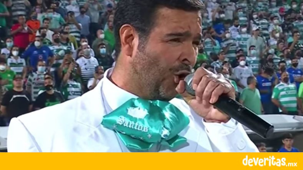 Pablo Montero cambia la letra al himno en el partido del Santos vs Cruz Azul y SEGOB lo sancionará