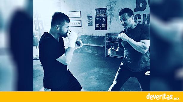Canelo y Rocky se sacan foto entrenando juntos