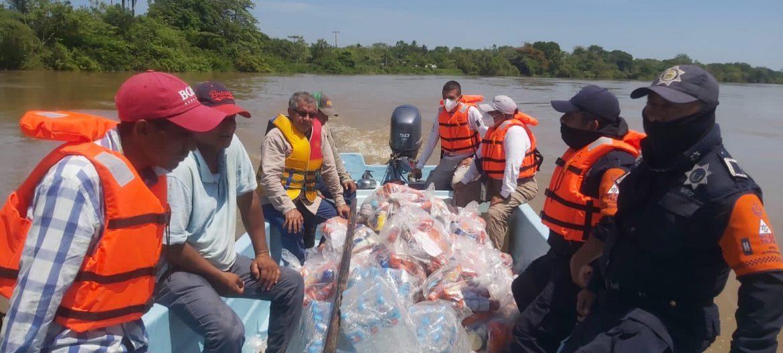 Atiende Gobierno de Veracruz a población afectada por lluvias
